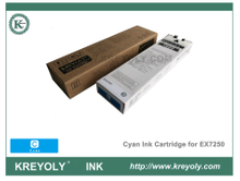Cartouche d'encre cyan Riso ComColor Orphis Machine EX7250 cyan